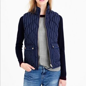 J Crew Quilted Excursion Puffer Vest Navy XS